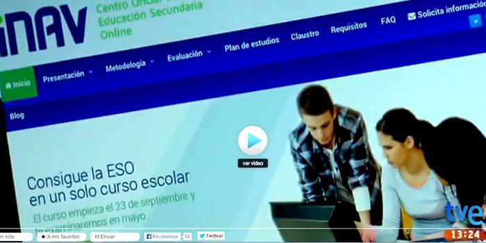 INAV explica en 'Cámara Abierta 2.0' de TVE cómo se obtiene el título de graduado en ESO vía online