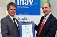 INAV obtiene la certificación de calidad ISO 9001:2015 en formación