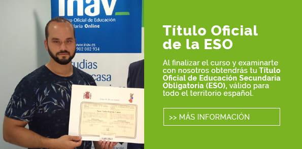Graduado Escolar Online - INAV Centro ESO